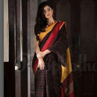 Clazzy 100 count linen by linen sarees