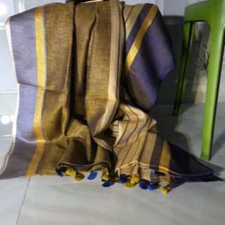 Clazzy linen by linen 100 count saree