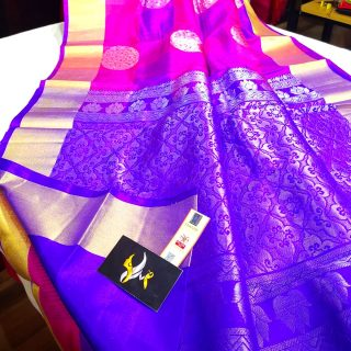 Pure Kanchipuram Handloom Soft Silk Saree