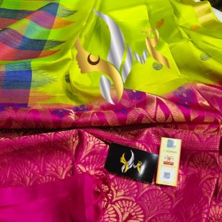 pure kanchipuram handloom soft silk sarees
