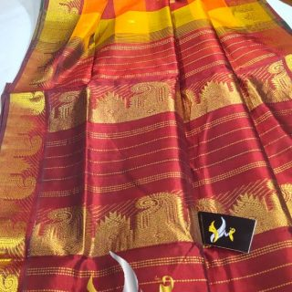 original kanchipuram silk cotton saree